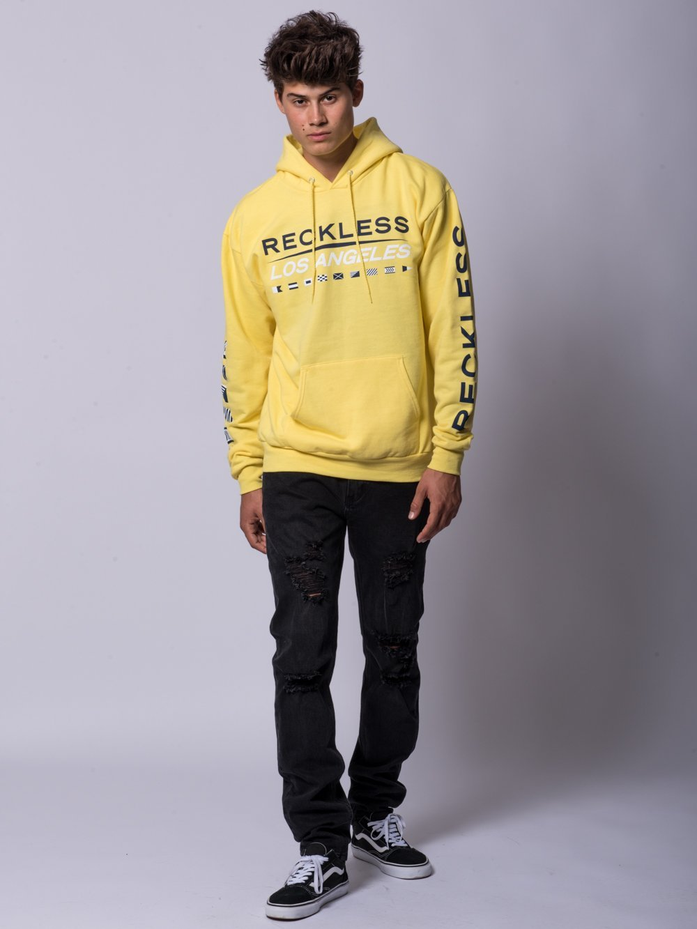 Young and Reckless Mens - Tops - Hoodies Nautical Hoodie- Yellow