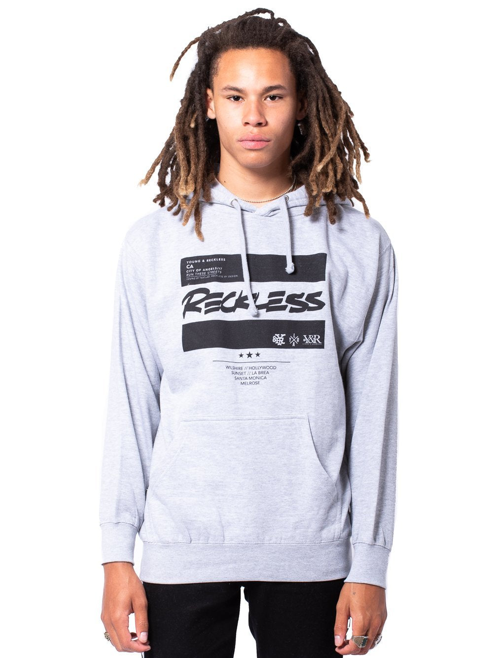 Young and Reckless Mens - Tops - Hoodies Official Biz Hoodie - Heather Grey