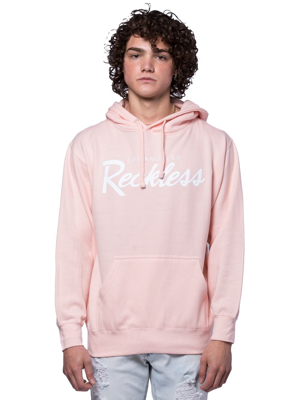 Young and Reckless Mens - Tops - Hoodies OG Reckless Hoodie - Pale Pink