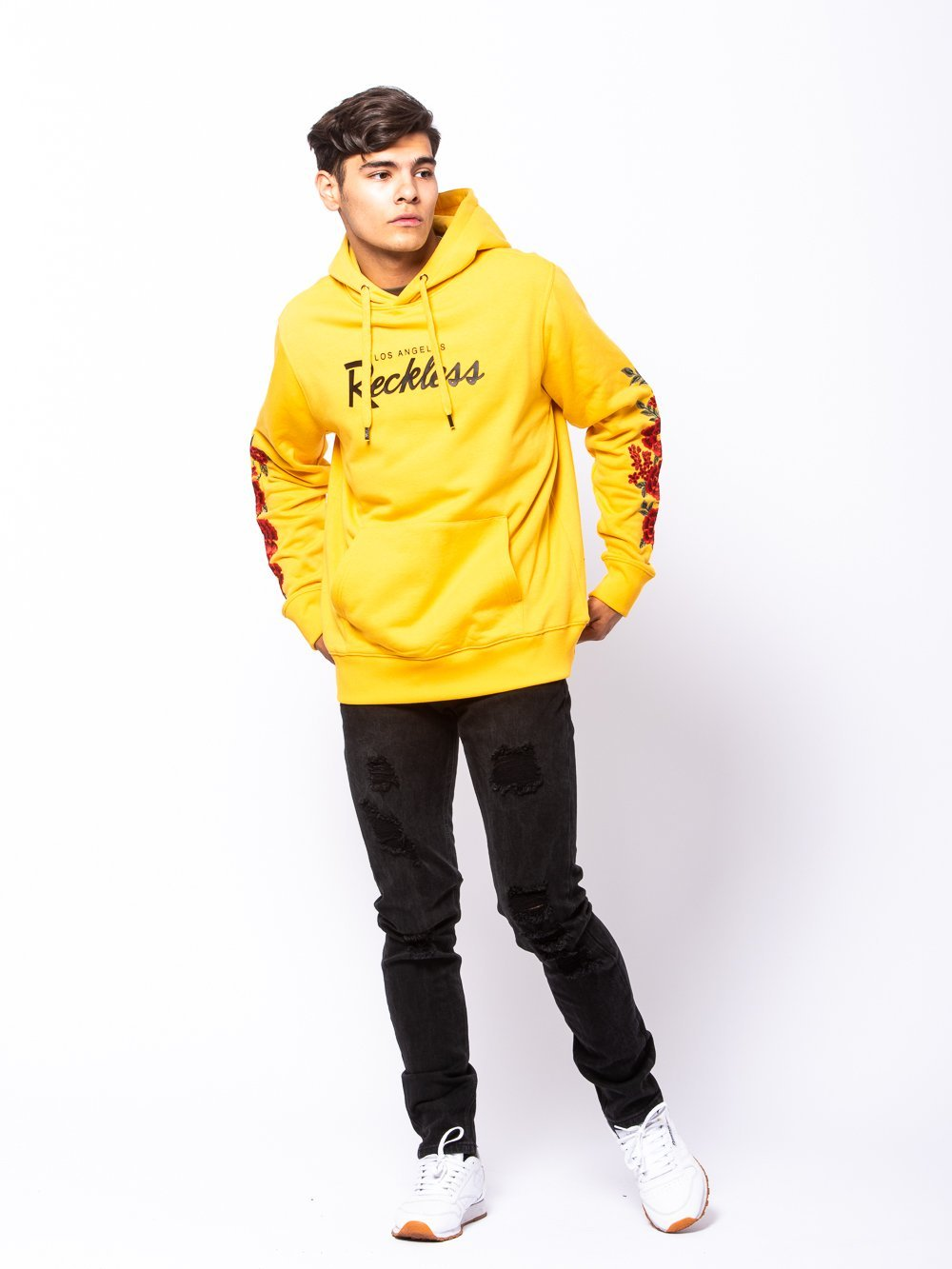 Young and Reckless Mens - Tops - Hoodies OG Vista Hoodie - Gold