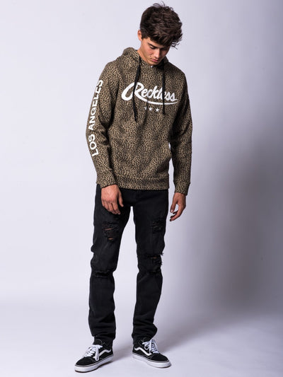 Young and Reckless Mens - Tops - Hoodies Passport Hoodie- Leopard