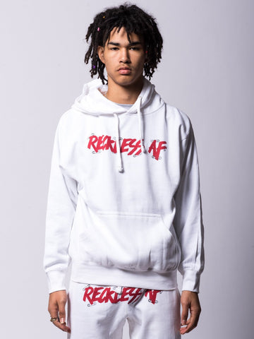 Young and Reckless Mens - Tops - Hoodies Pinned AF Hoodie - White