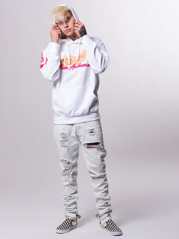 Racked Up Hoodie- White