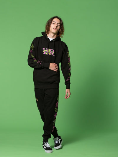 Young and Reckless Mens - Tops - Hoodies RCKLSS X PRDY GNG Cowbunga Hoodie - Black