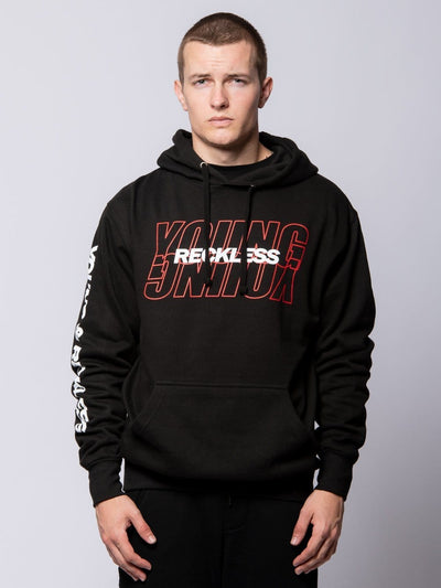 Young and Reckless Mens - Tops - Hoodies Reciprocal Hoodie - Black S / BLACK