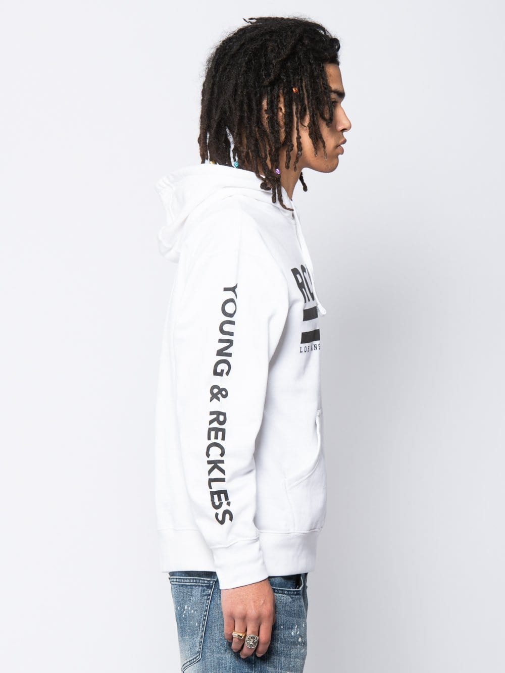 Young and Reckless Mens - Tops - Hoodies Regal Hoodie - White S / WHITE
