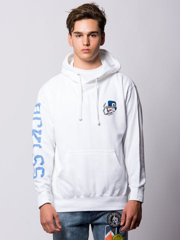 Young and Reckless Mens - Tops - Hoodies Royal Flush Hoodie - White
