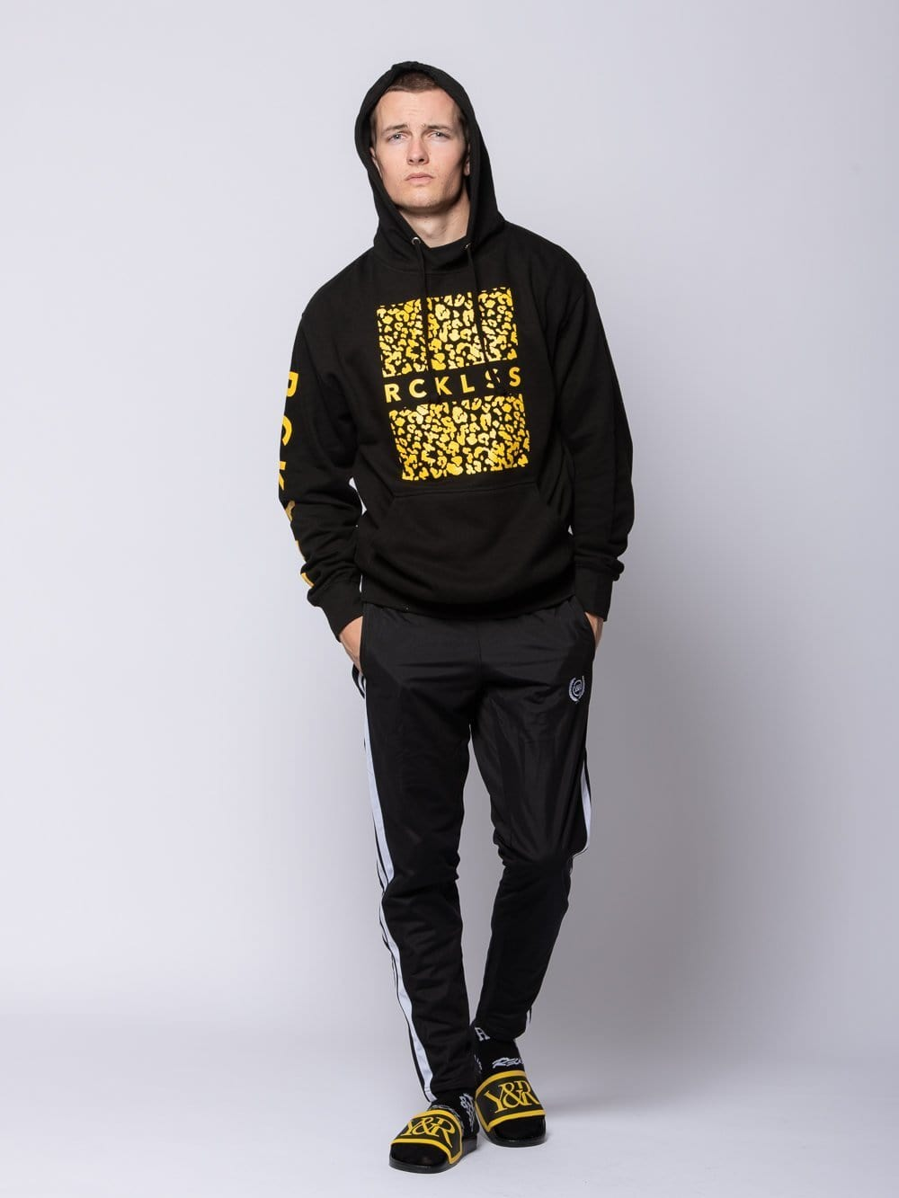 Young and Reckless Mens - Tops - Hoodies Savannah Hoodie - Black S / BLACK