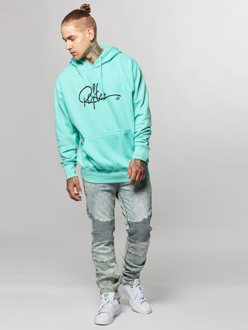Young and Reckless Mens - Tops - Hoodies Signature Hoodie- Celadon