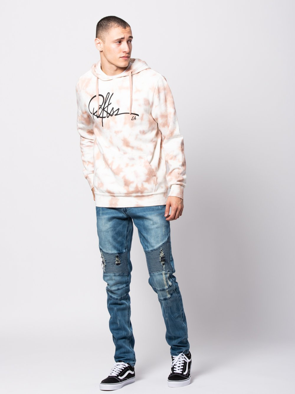 e81f86a02ec Young and Reckless Mens - Tops - Hoodies Signature Hoodie - Pink Tie Dye