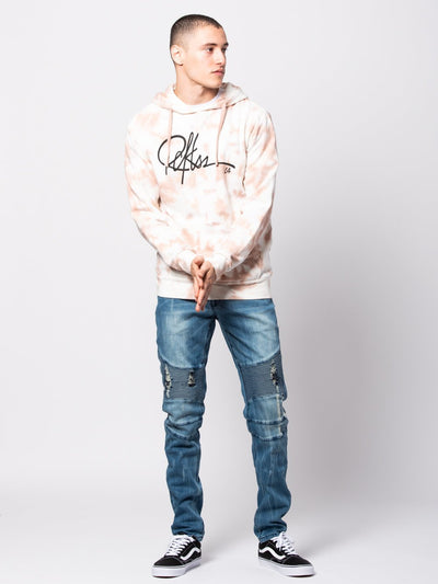 Young and Reckless Mens - Tops - Hoodies Signature Hoodie - Pink Tie Dye