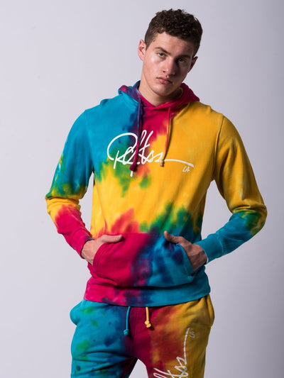 Young and Reckless Mens - Tops - Hoodies Signature Hoodie- Rainbow