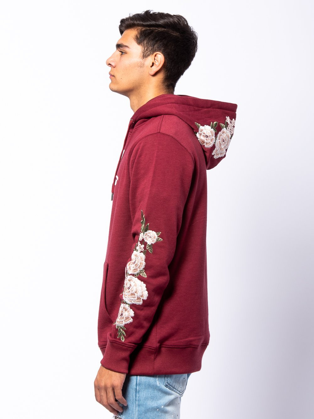 Young and Reckless Mens - Tops - Hoodies Signature Vista Hoodie - Burgundy