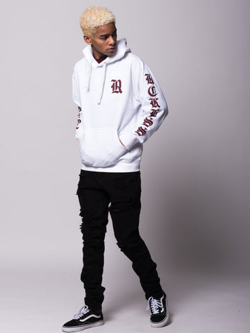Sovereign Hoodie - White/Burgundy