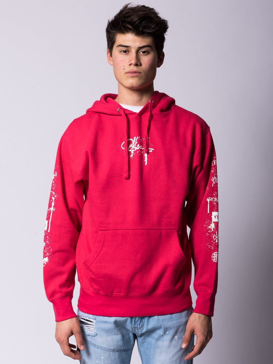 Spatter Signature Hoodie - Pink