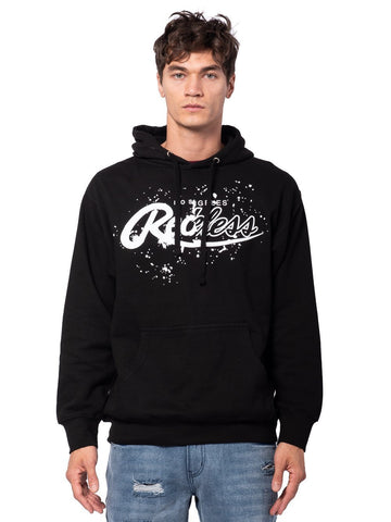Young and Reckless Mens - Tops - Hoodies Split Splatter Hoodie - Black/White