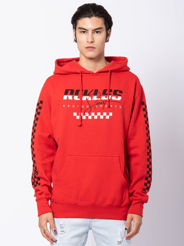Young and Reckless Mens - Tops - Hoodies Supercharged Hoodie - Red