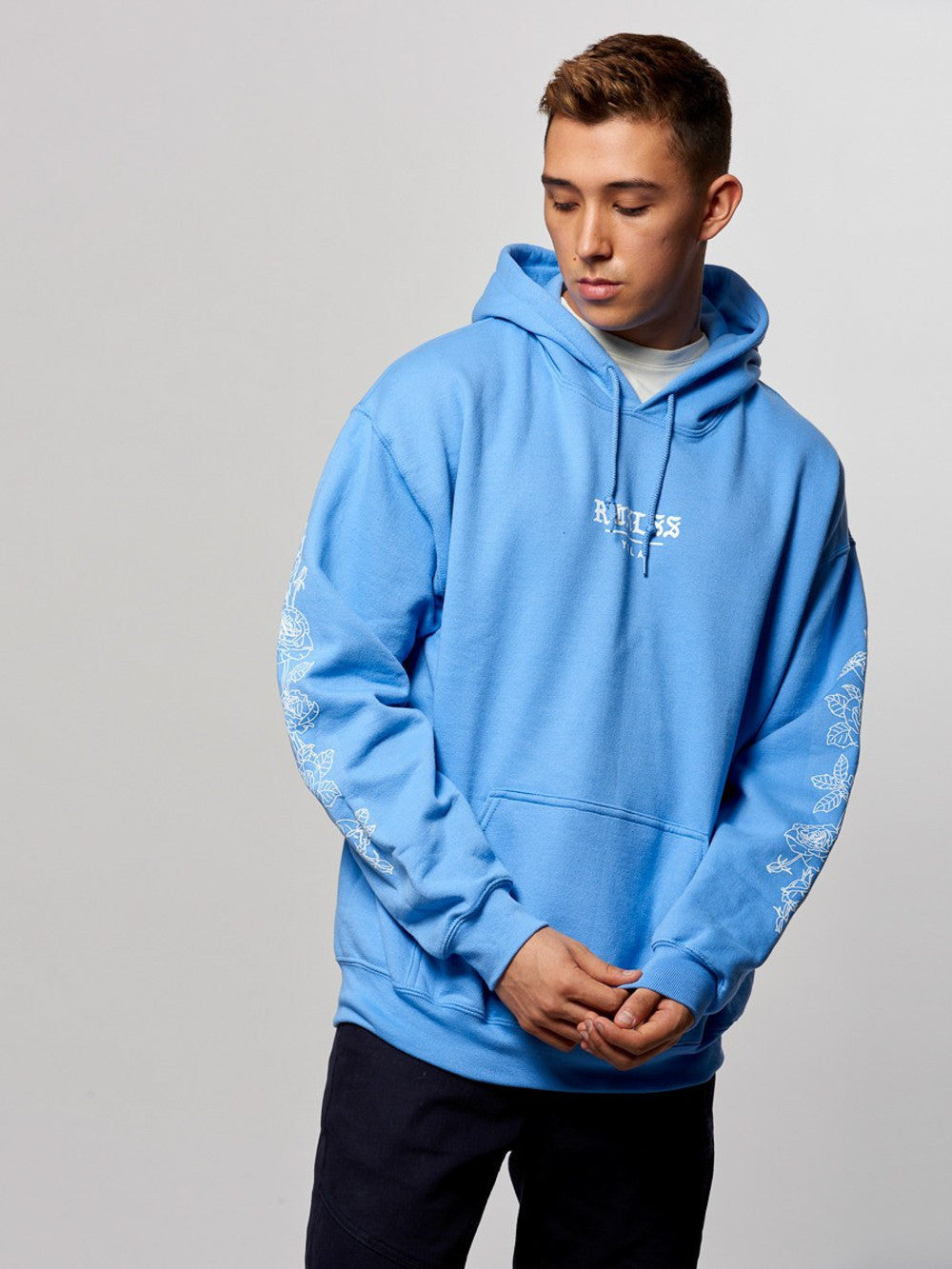 Young and Reckless Mens - Tops - Hoodies Thrive Hoodie- Carolina Blue
