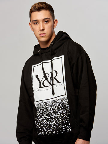 Young and Reckless Mens - Tops - Hoodies Trademark Crumble Hoodie- Black