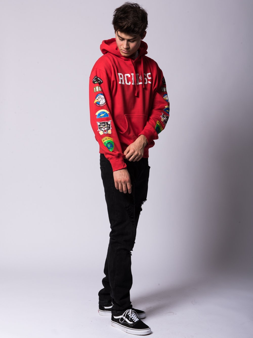 Young and Reckless Mens - Tops - Hoodies Trigger Hoodie - Red