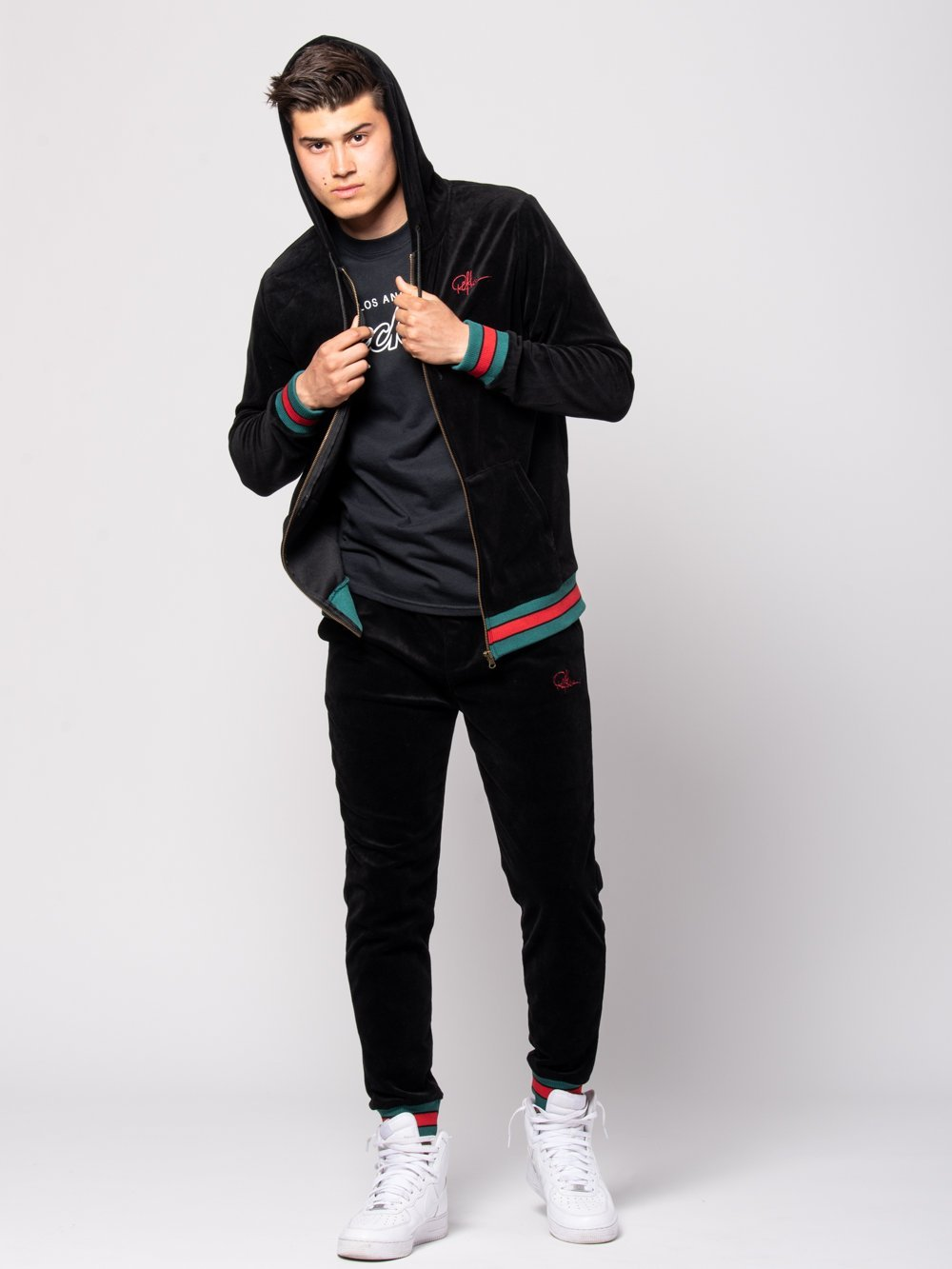 Young and Reckless Mens - Tops - Hoodies Tristan Velour Hoodie - Black