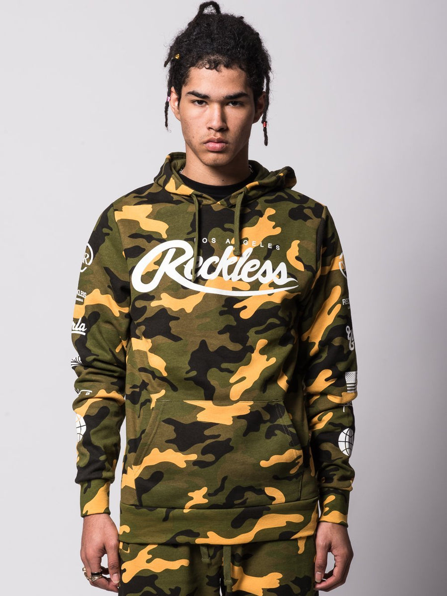 Young and Reckless Mens - Tops - Hoodies Unlimited Hoodie - Camo