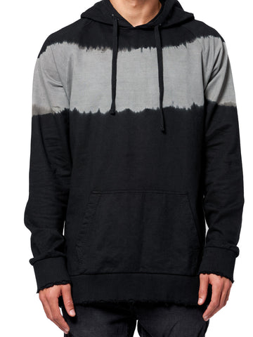 Young and Reckless Mens - Tops - Hoodies Vermont Dip Dye Hoodie- Black