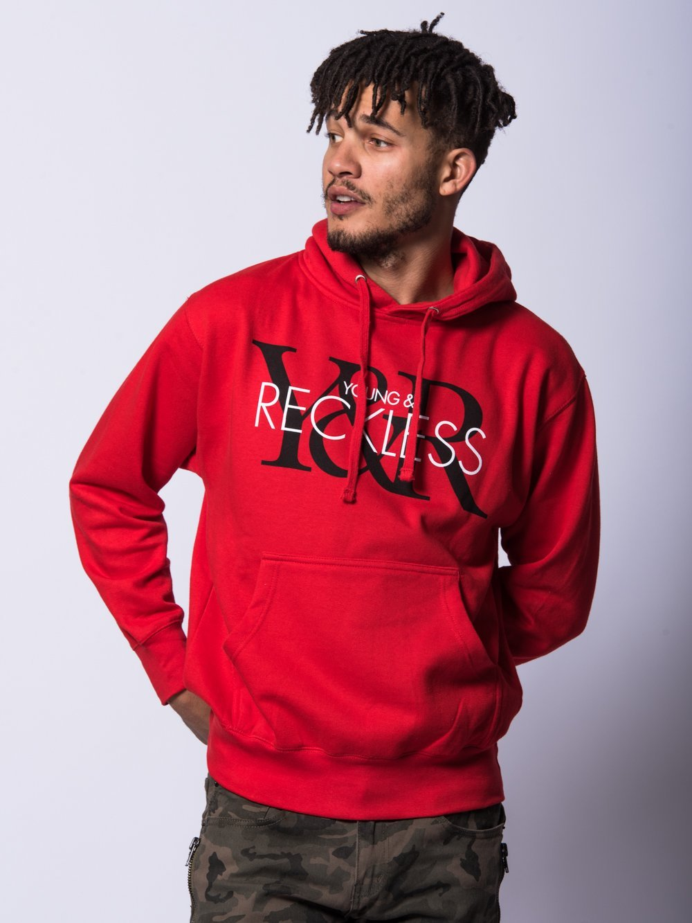 Young and Reckless Mens - Tops - Hoodies Vintage Hoodie- Red