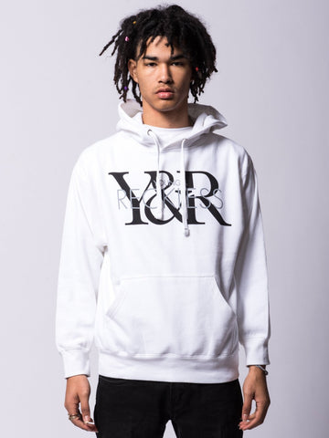 Young and Reckless Mens - Tops - Hoodies Vintage Hoodie - White