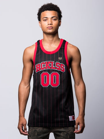 Young and Reckless Mens - Tops - Jerseys Raptor Basketball Jersey - Red/Black