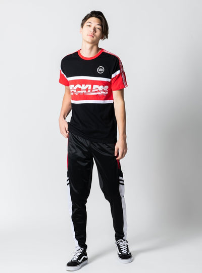 Young and Reckless Mens - Tops - Jerseys Soccer Sweeper Jersey - Black/Red