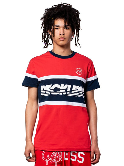Young and Reckless Mens - Tops - Jerseys Soccer Sweeper Jersey - Red/Blue