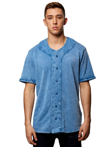 Young and Reckless Mens - Tops - Jerseys Sycamore Baseball Jersey- Indigo