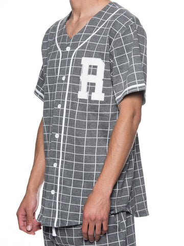 Vista Baseball Jersey - Heather Grey