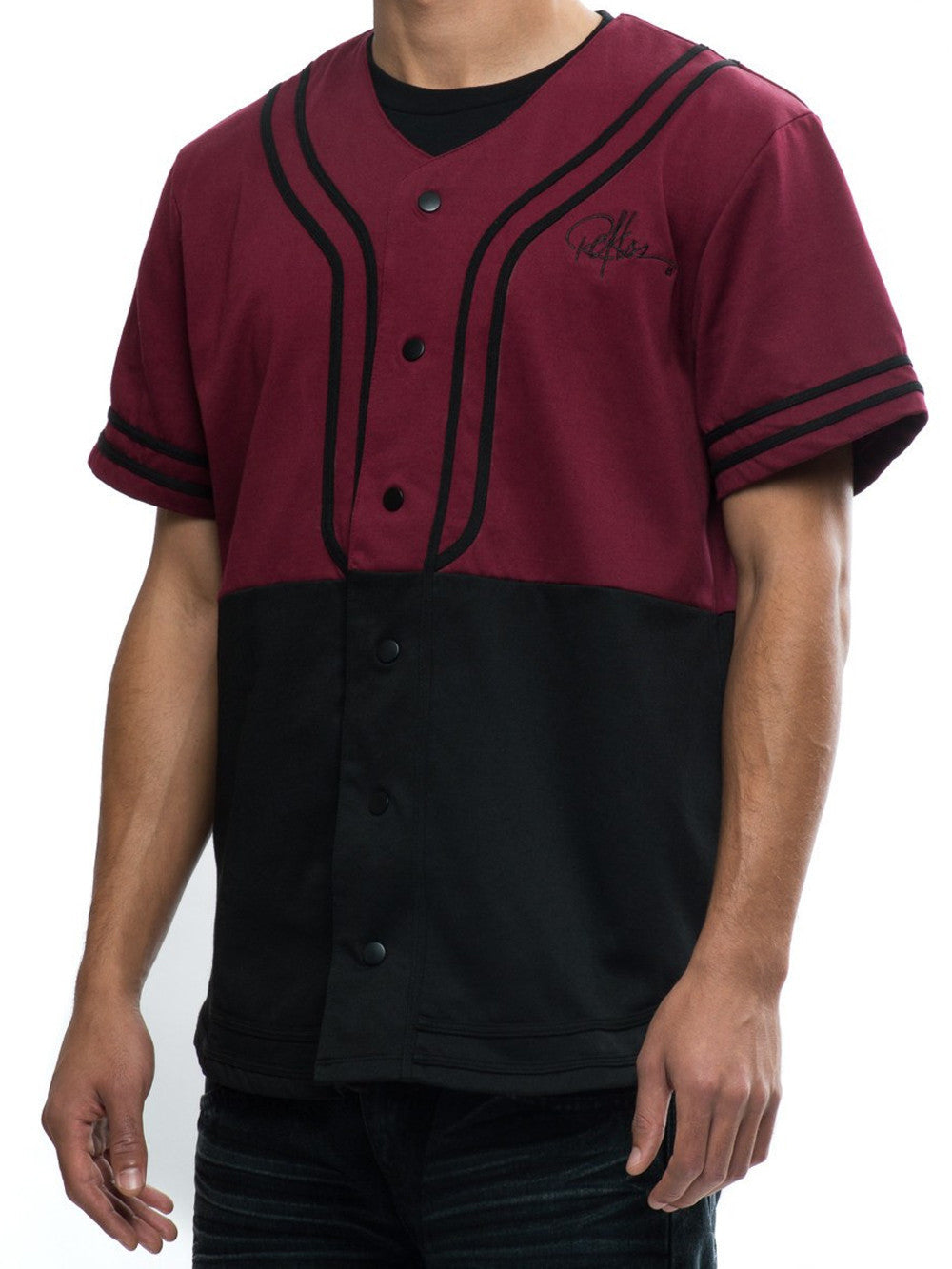 Young and Reckless Mens - Tops - Jerseys Winners Jersey - Burgundy/Black