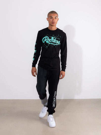 Young and Reckless Mens - Tops - Long Sleeve Splash Back Long Sleeve - Black