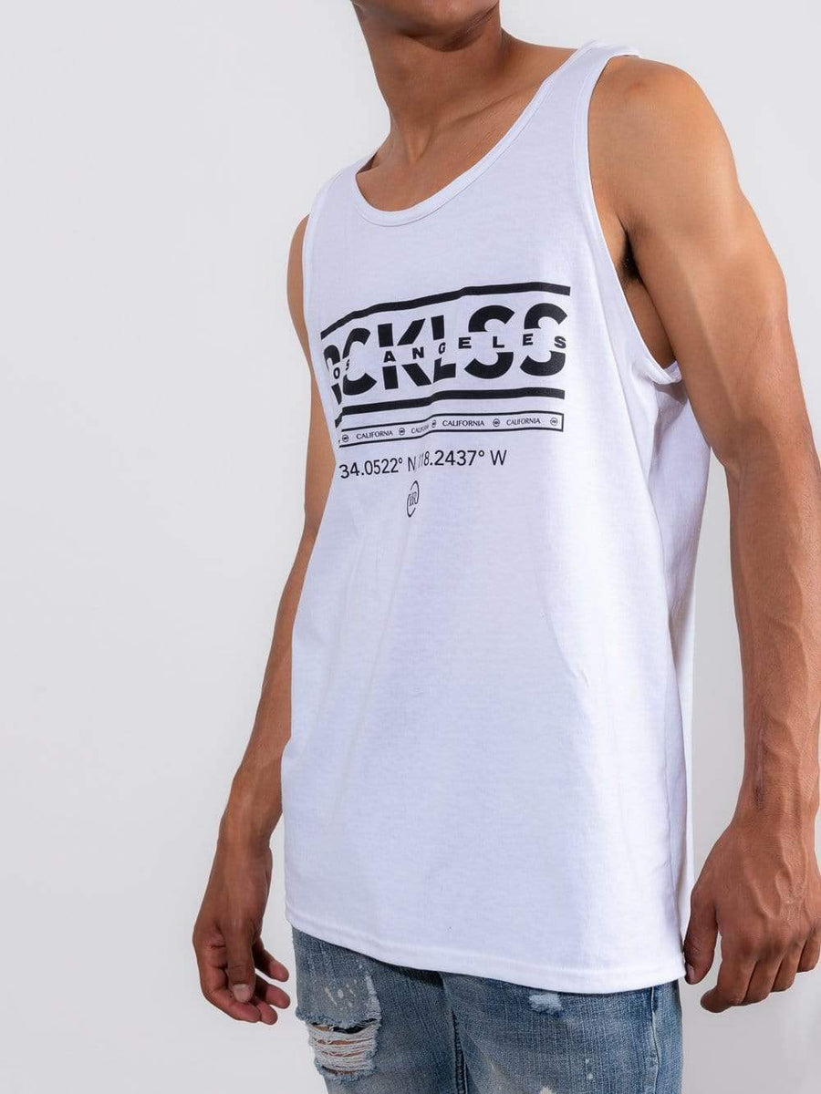 Young and Reckless Mens - Tops - Tanks Coordinates Tank - White