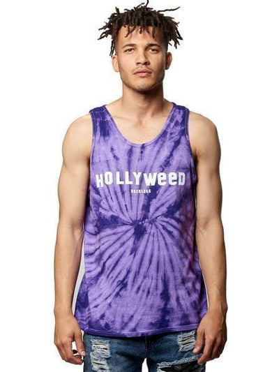 Young and Reckless Mens - Tops - Tanks Hollyweed Tank- Purple Tie Dye S / PURPLE