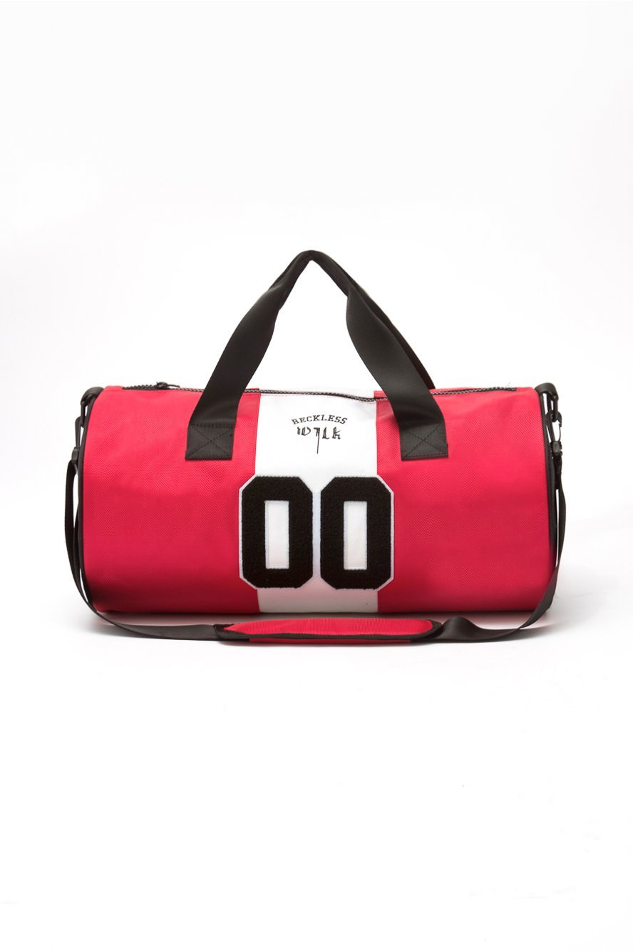 Sammy Wilk x Reckless Duffle Bag - Black/Red