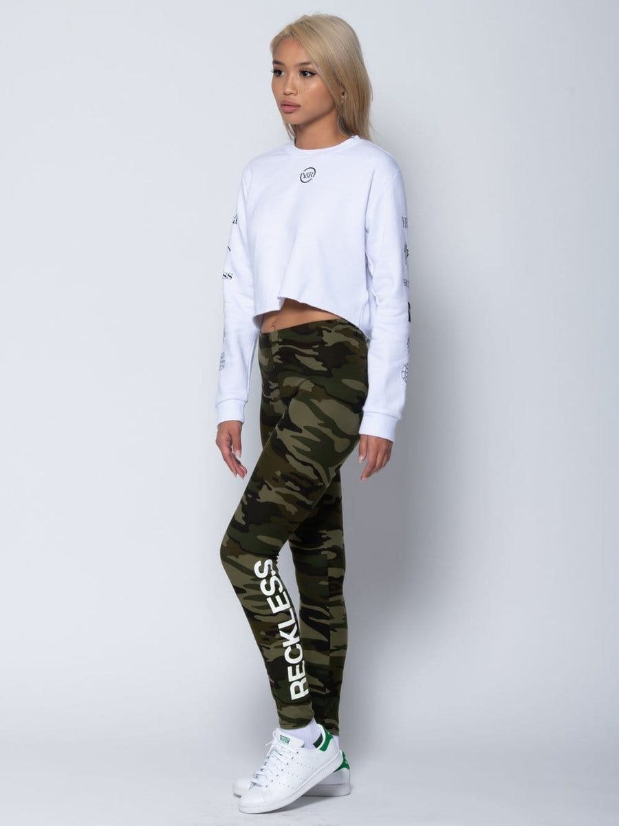 Young and Reckless Womens - Sets Binary Set - White/Camo XS / OS / WHITE/CAMO