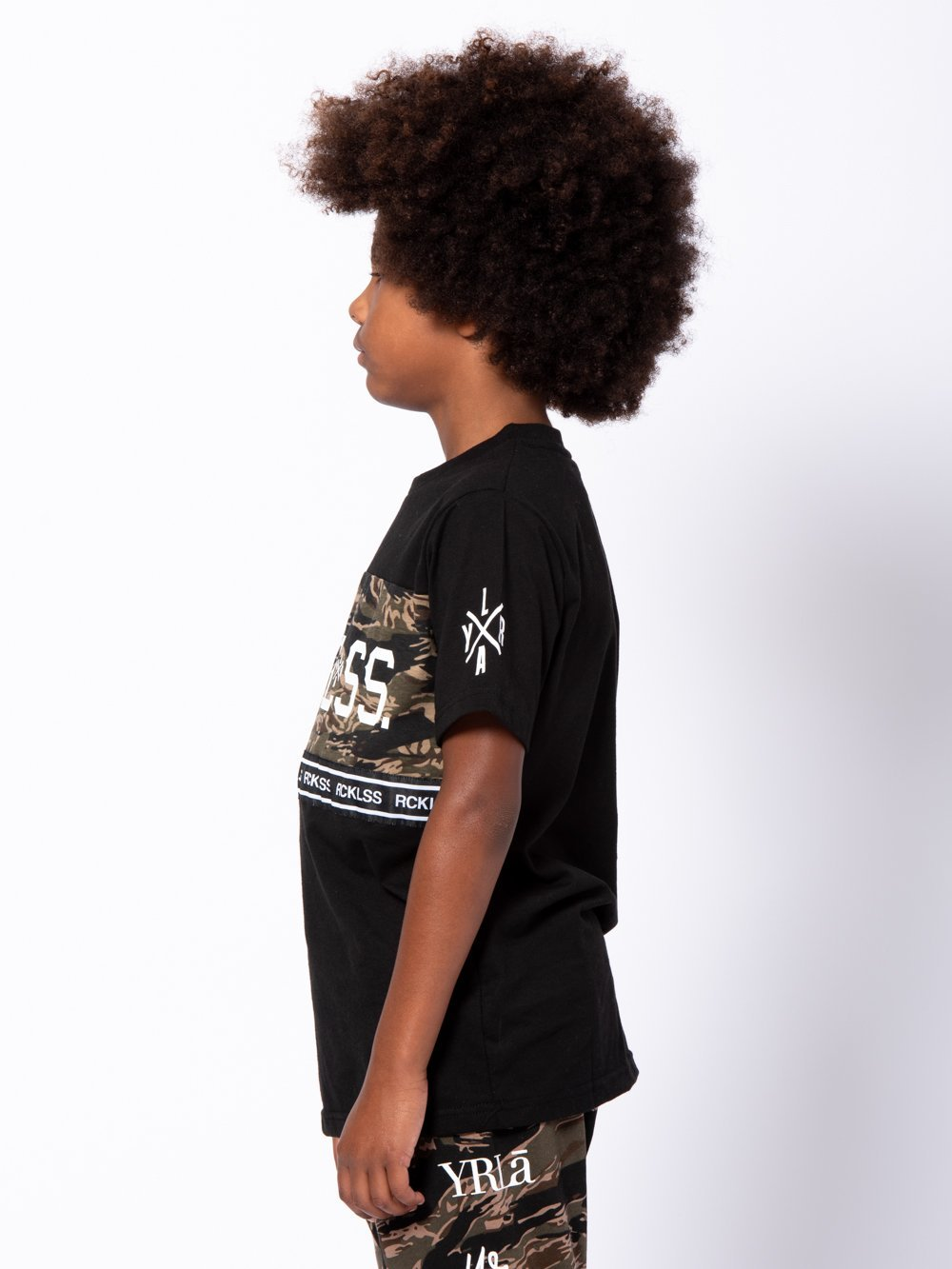 Young & Reckless Boys Youth - Tees - Graphic Tee Youth Lane Change Converge Tee - Black