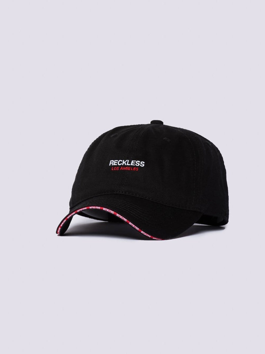 Young & Reckless Mens - Accessories - Hats Classic Rim Dad Hat - Black/Red OS / BLACK/RED