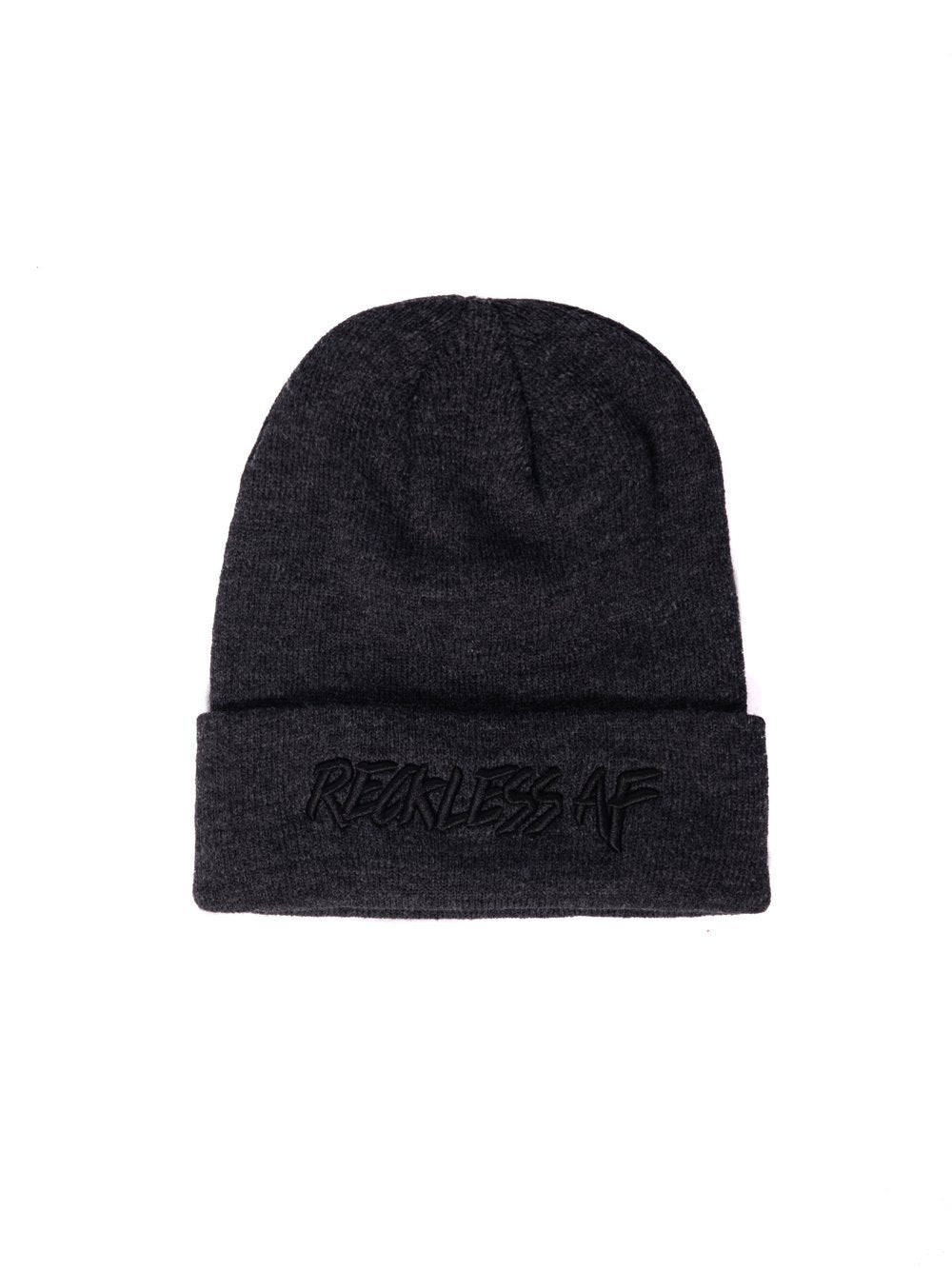 Young   Reckless Mens - Headwear - Beanie Reckless AF Beanie - Charcoal ... eba8d1b4919