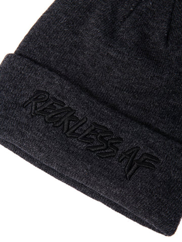 Reckless AF Beanie - Charcoal
