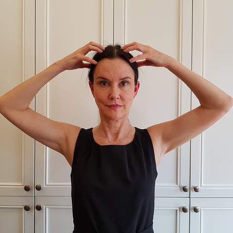 forehead tap facial yoga