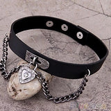 DDLGVERSE Gothic Heart Pendant Collar on Rock