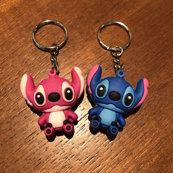 Stitch & Angel Keyrings