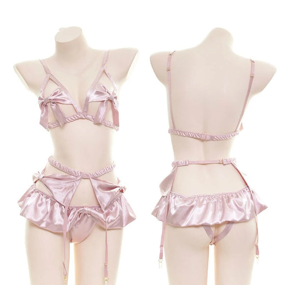 Silk Ribbon Lingerie Set