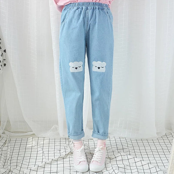 Denim Koala Boyfriend Pants