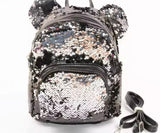 DDLGVERSE Mini Sequin Mouse Backpack Silver Grey